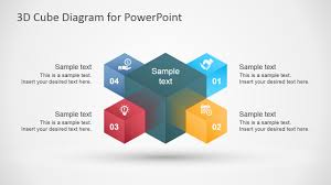 3d Flow Chart Powerpoint 3d Cube Diagram Template For Powerpoint