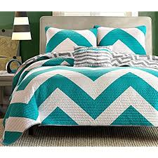 turquoise and gray bedding. Interesting Gray Divano Roma 4 Piece Zig Zag Reversible Chevron Bedspread Coverlet With  Matching Shams And Cushion Pillow Queen Teal  Grey On Turquoise And Gray Bedding