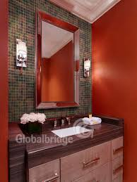 red color square crystal glass mosaic tile for wall 8inkcb903