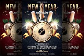 New Year Party Flyer Template New Year Party Flyer Template Flyer Templates Creative Market 1