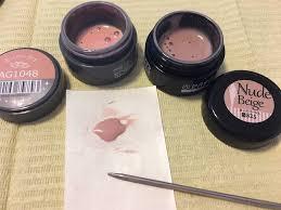 ピンクベージュカラージェルの作り方とおすすめキャンドゥのネイルシール