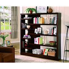 Coaster Unique Design Bookcase/Book Shelf, Cappuccino Finish