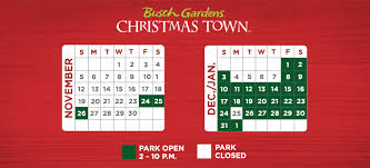 2017 Event Calendar | Christmas Town | Busch Gardens Williamsburg