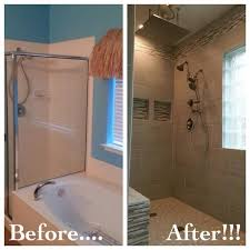 bathroom remodel removed garden tub to make room for a walk in quoet replace bathtub with