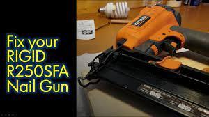 rigid r250sfa straight nail gun