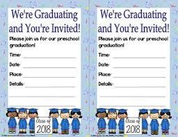 Preschool Graduation Announcements Preschool Diplomas Certificates Graduation Invitations Editable