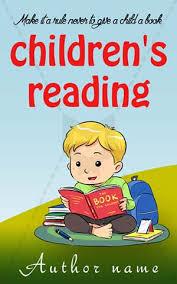 children book cover design children reading front