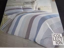 debenhams the home collection double duvet cover set denim stripe bedding 55