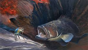 dusky grouper underwater painting