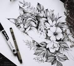 эскизы кошек и рысей значения татуировок с кошкой и рысью