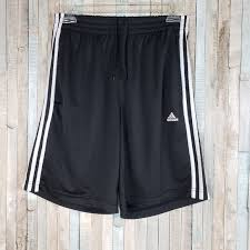 Adidas Womens Shorts Size Chart Adidas Three Stripe Black White Shorts Size S