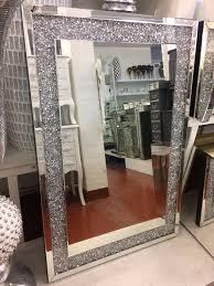mirrored furniture. Pre Order Diamond Crush Wall Mirror - Mirrored Furniture Sparkle House Of Sparkles