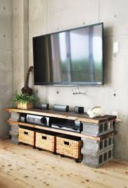 cinderblock diy media console cinderblock tv console