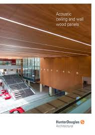 acoustic ceiling and wall wood panels