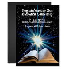 Ordination Invitation Template Priest Ordination Anniversary Any Years Ordained Invitation