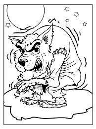 Kleurplaat Gevaarlijke Wolf Kleurplatennl