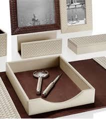 luxury office desk accessories. rivieredesksetwovenofficedecorativeaccessoryleather luxury office desk accessories