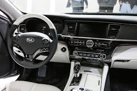 black kia k900 interior. kia k900 sedan interior black
