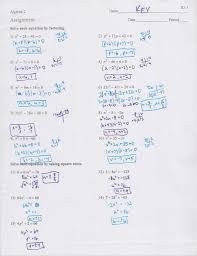adorable algebra 2 quadratic formula worksheet answers in factoring trinomials worksheet answers wiildcreative of algebra