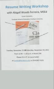 Resume Workshop Clipart 10