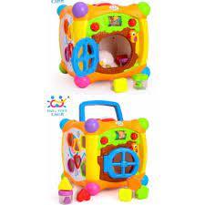 Ada musik dan dapat berputar manual dengan memutar tuasnya. Magic Cube Box Little Joy Box Mainan Musik Bayi Kado Lahiran Bayi Shopee Indonesia