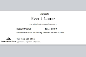 Event Ticket Template Word Event Ticket Template Free Event Ticket Template Event