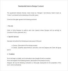 Interior Designer Contract Templates Free Word Documents Work ...