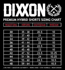 Hybrid And Company Size Chart Sizing Dixxon Flannel Co