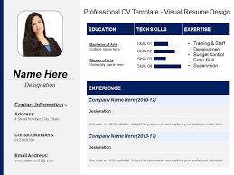 Resume In Powerpoint Professional Cv Template Visual Resume Design Powerpoint