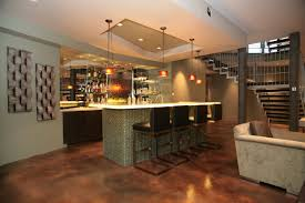 contemporary bar furniture. Awesome White Brown Wood Stainless Modern Home Bar Ideas Pendant Lamp Wall Racks Bottle Chairs Contemporary Furniture