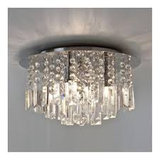 modern bathroom chandelier with crystal glass droplets