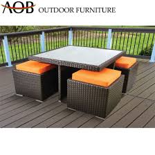 chinese modern wicker rattan dining