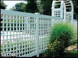vinyl lattice fence panels. Vinyl Lattice Fencing | Connecticut Fence Company CT Panels L