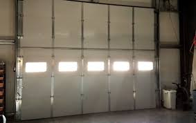 interior view of custom commercial garage door