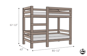 She's a relatively new woodworker who reached out to us asking our help to  create plans for a simple bunk bed ...