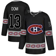Black Jersey 13 Nhl Logo Authentic Men's Fashion Domi - Canadiens Montreal Max Team Adidas