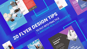 Graphic Design Tips For Flyers 20 Flyer Design Tips Awesome Real Life Examples