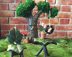 terrarium furniture. fairy garden table and chairs furniture bistro setminiature ivy leaf for miniature terrarium