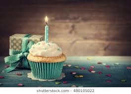 birthday cupcake with candle.  Candle Cupcake With Birthday Candle And Gift Box And Birthday With Candle Y