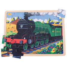 picture of 35 large piece wooden puzzle flying scotsman