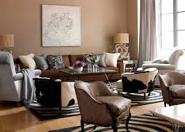 Modern Living Room With Brown Leather Sofa Living Room Paint Colors For Living Room With Brown Furniture