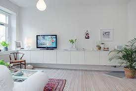own floating tv unit with besta from ikea
