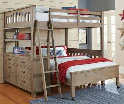 Driftwood Bedroom Furniture 10080 Full Size Loft Bed With Full Size Lower Bed Highlands Beds