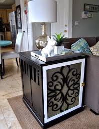 diy dog crate side table