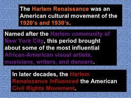 harlem renaissance of  4 the harlem renaissance