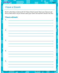 i have a dream printable worksheet on martin luther king  i have a dream