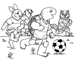 Small Picture Franklin Playing Soccer Coloring Page Animal pages of