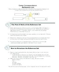 How To Make A Reference Page For Resume How Make A List Of