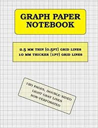 Amazon Com Graph Paper Notebook 2 5 Mm Thin 0 5pt And 10 Mm