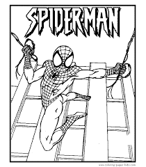 Small Picture Spiderman coloring pages and sheets can be found in the Spiderman